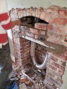 lintel wood burning stove