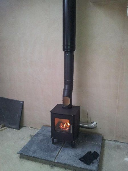 Laying A Hearth For A Wood Burning Stove Simple Slate Or