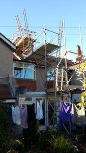 fit a chimeny lienr scaffold