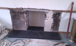 slate hearth for wood burner