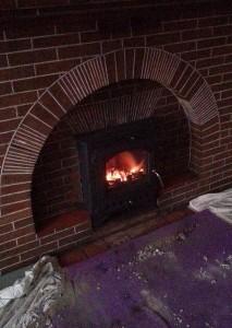 fitting a log burner
