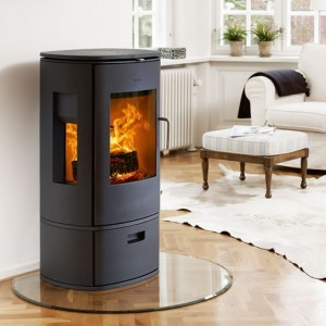 Hearth regulations for wood burning stoves: glass hearth